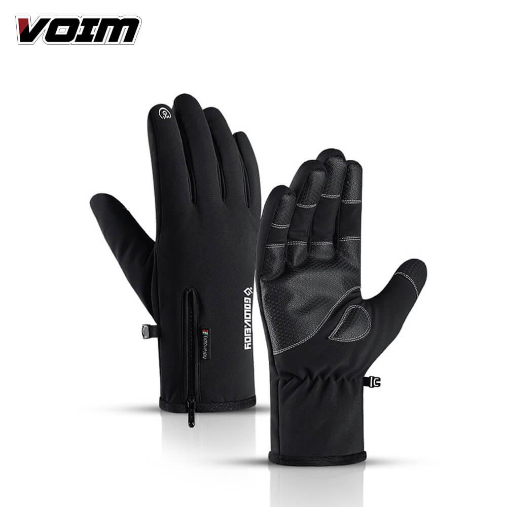 Utdoor Waterproof Gloves Winter Zipper Touch Screen Riding Warm Sports Guantes Climbing Ski Plus Velvet Thickening Luvas