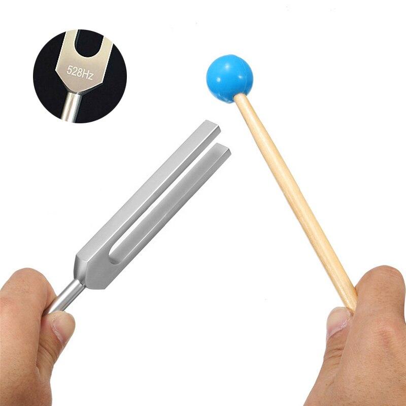 Diapason médical 528HZ alliage daluminium guérison son Vibration thérapie outil médical Chakra marteau boule Diagnostic avec maillet