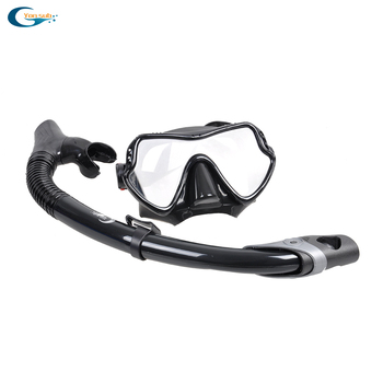 Silicone diving mask scuba mask underwater swimming Goggles Dry Snorkel Tube Dive Set Men Women Diving Equipment Free Shipping цена 2017