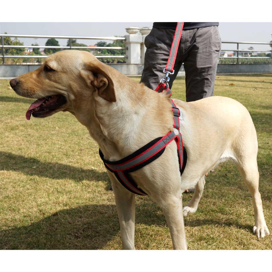 Hund Harness Weste Leine Reflcetive Atmungsaktive Mesh Pet Produts Adjustbale Nacht Walkding Leine Hund Kragen für Medium Large Hunde