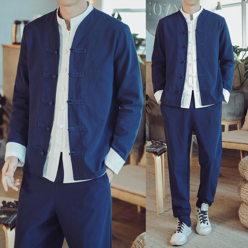Autumn Chinese Style Han Suit Men's Chinese Style Traditional Chinese Style Retro Tang