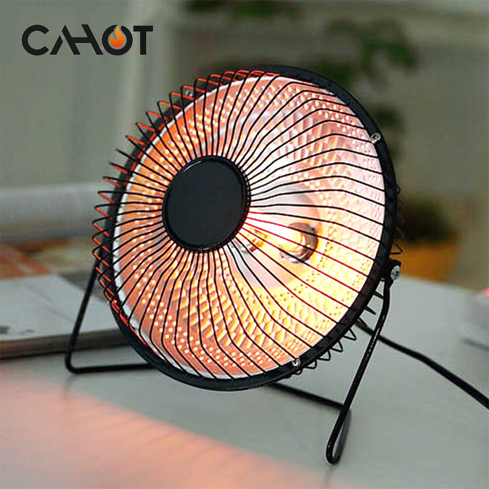 CAHOT 4inch 6inch 220V Portable Electric Air Heater Warm Fan Home Heater Infrared Desktop for Winter Household Bathroom