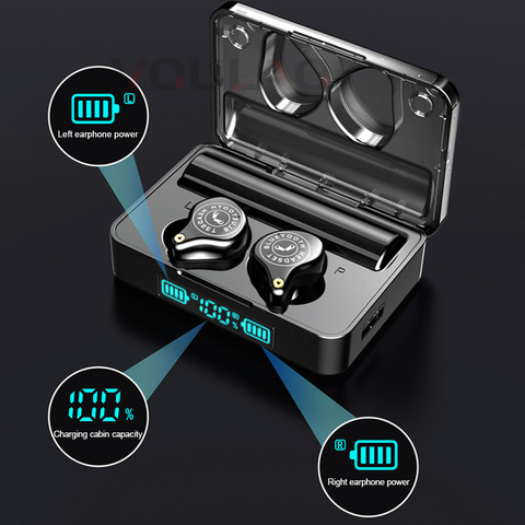 Wireless Bluetooth Earphones TWS Wireless Headphones IPX7 Waterproof  Touch Control Earphone 9D Stereo Headsets  For IOS Android Lahore