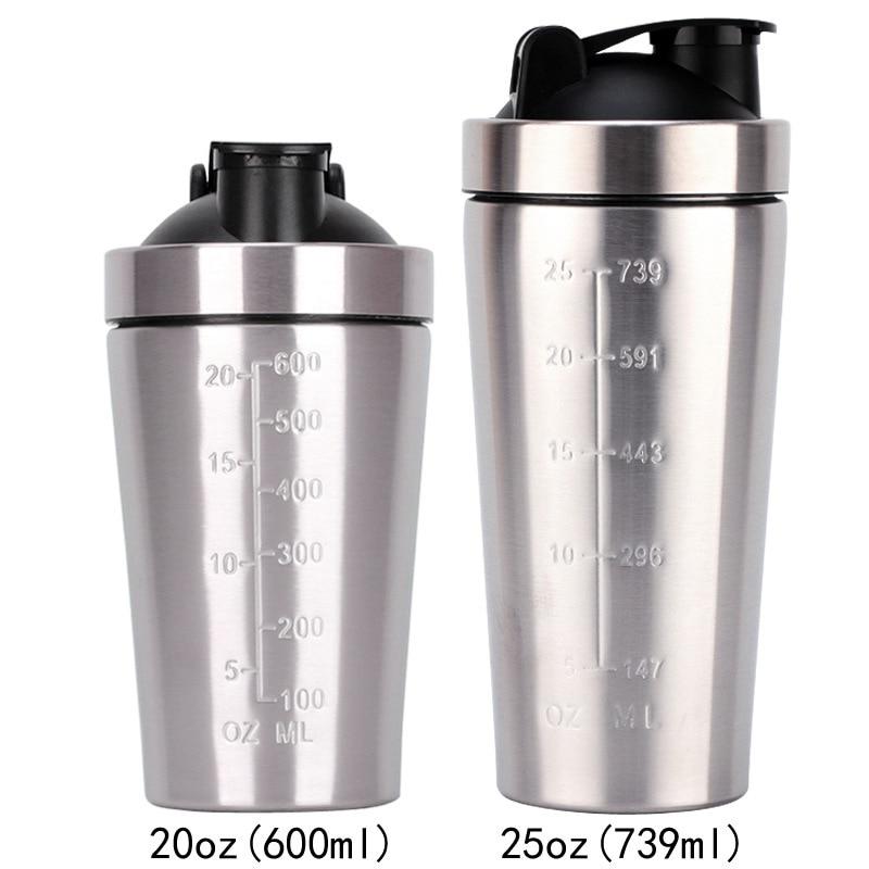 2020 Новинка 25 унций однослойный 304 нержавеющая сталь шейкер для фитнеса протеиновый порошок шейкер не изоляционная чашка|Шейкер бутылки|   | АлиЭкспресс