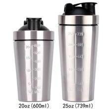 Copo agitador fitness de 25oz, copo de aço inoxidável de camada única 2020 de proteína fitness em pó, copo não isolante, novo, 304