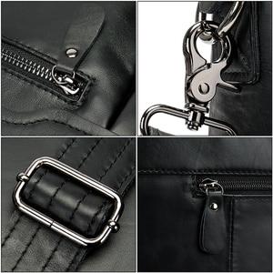 Image 5 - WESTAL sac à bandoulière en cuir véritable pour hommes, sac à épaule/fourre tout sacs pour ordinateur portable