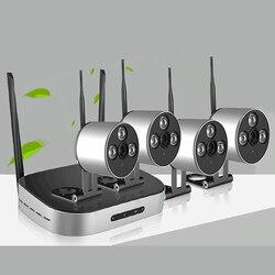 1080P system kamer bezpieczeństwa 4CH zestaw wi fi nvr 4 sztuk 2.0MP HD kryty odkryty kamera telewizji przemysłowej P2P system monitoringu wizyjnego kamera IP w Systemy nadzoru od Bezpieczeństwo i ochrona na