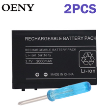 2pcsRechargeable Lithium-ion Battery for Nintendo DSL NDS Lite Pack With Mini Screwdriver Compatible withNintendo DS Lite NDSL