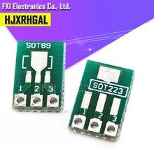 20 piezas SOT89 SOT223 a placa de transferencia DIP Pin Board adaptador de paso keysets igmopnrq