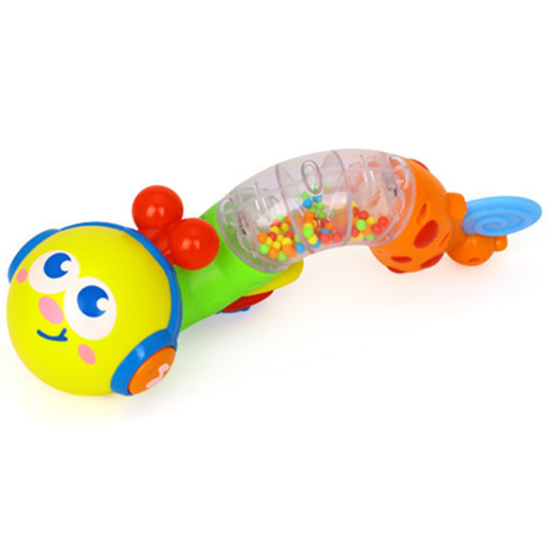 Baby Toy Musical Twisting Worm Rattle Toy Kids Early Educational Toys For Children Xmas Gift 0-6 Month