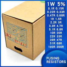 Wound Fuse Resistance1W 5% 0.1Ohm0.22/0.47/0.68/1/2.2/4.7/5.1/10/20/22/33/39/47/68/100/200OhmFusing Resistors Winding resistance