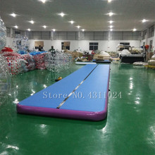 Free Shipping 12x1x0.2m Blue Inflatable Gymnastics Mattress Gym Tumble Airtrack Floor Tumbling Air Track For Sale free shipping 8x2x0 2m airtrack trampoline mat inflatable jumping air tumble track inflatable gym airtrack for sale