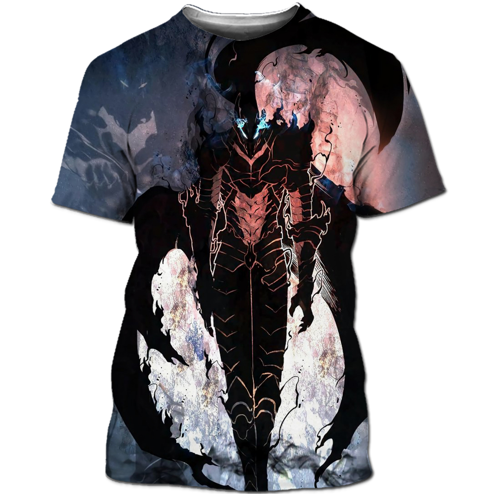 Solo Leveling Shirt men Korean anime 3D printing manga T-shirt Fun neutral streetwear cool T-shirt Harajuku pullover T-shirt top (14)