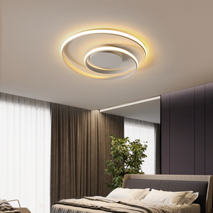 Image 3 - 現代の天井照明ledランプリビングルーム白黒色表面実装天井ランプデコAC85 265V