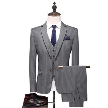 Mens Casual Striped Suits