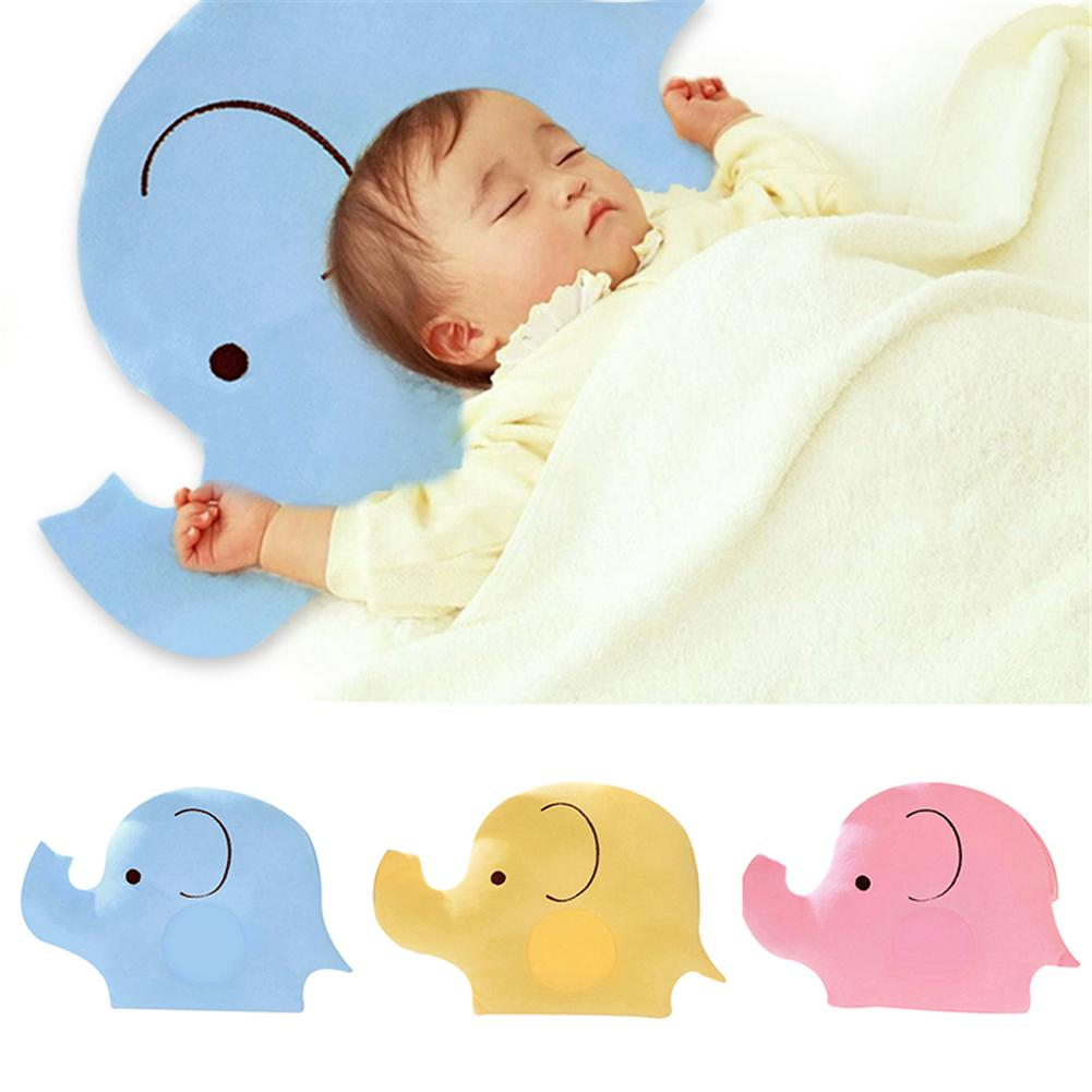 Baby Shaping Pillow Soft Cotton Lovely Cartoon Elephant Sleep Head Positioner Anti-rollover Promotion In Stock