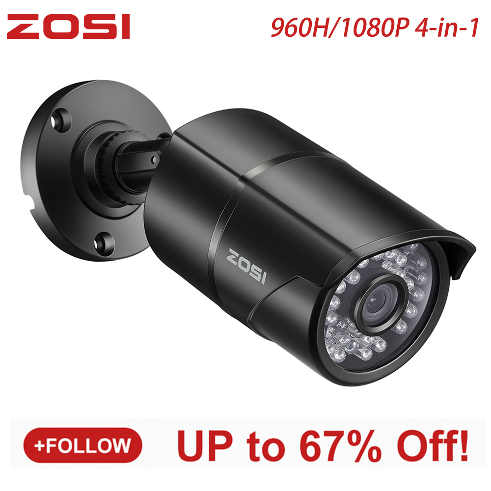 ZOSI 960H 1080P CVBS AHD TVI CVI CMOS Sensor Bullet CCTV Video Analog 3.6mm Home Mini HD Surveillance Camera Security Waterproof