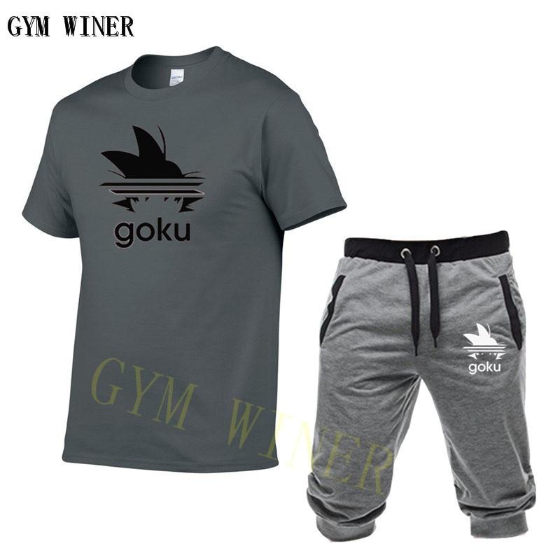 2019 Tide Brand Sets Summer Men T Shirts+pants Sets Summer Hot Sale Cotton Comfortable Short Sleeve Tshirt Men Casual Set Pant
