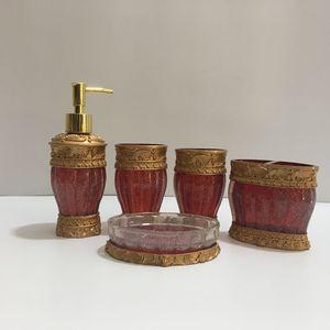 Image 5 - Модный высококачественный полимерный набор сантехники для ванной комнаты, Красивая посуда для мыла