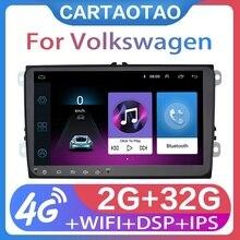 "9 ""2din アンドロイド 8.1 行くカーラジオ GPS navig フォルクスワーゲンシュコダオクタためのゴルフ 5 6 トゥーランパサート B6 ジェッタステレオ WIFI"