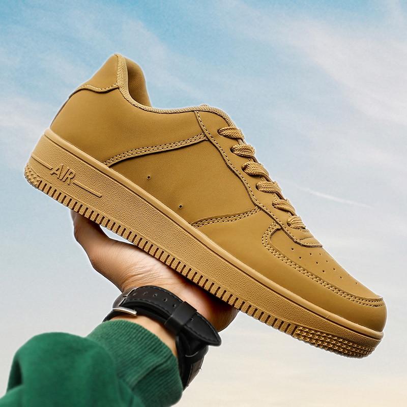 Men's Lightweight Comfortable Classic Sneakers Men's Sneakers Classic Retro Skate Shoes Sneakers  Yellow Sneakers
