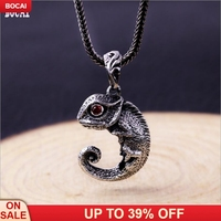 925 solid sterling silver fashion accessories small cute little lizard vintage Thai necklace pendant man's pendant