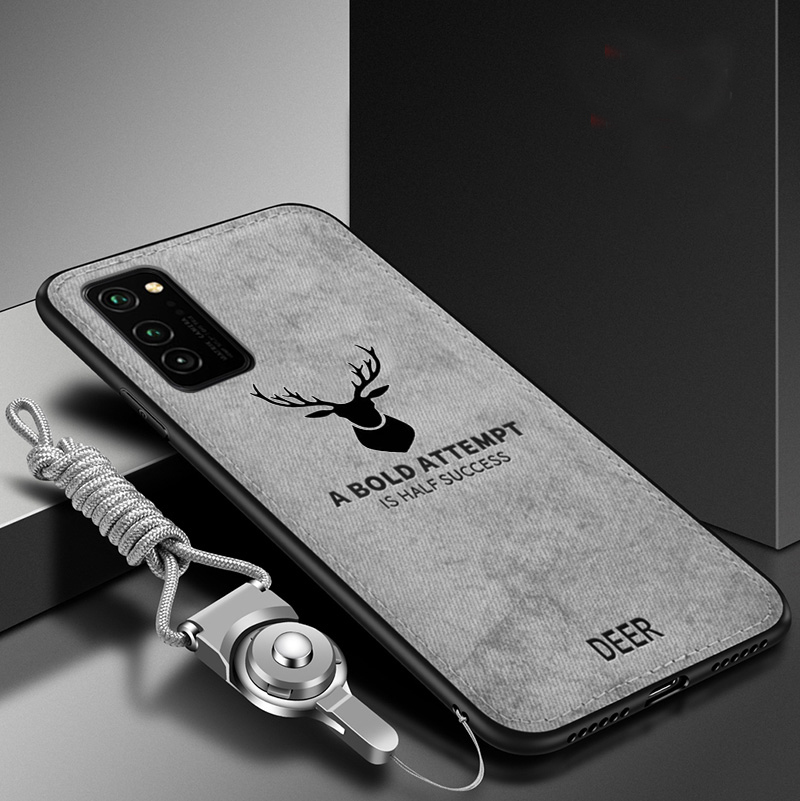 For Samsung Galaxy A51 A71 A81 A91 Case Soft TPU+Hard Fabric Deer Slim Protective Back Cover Case For Samsung S10 Note 10 Lite