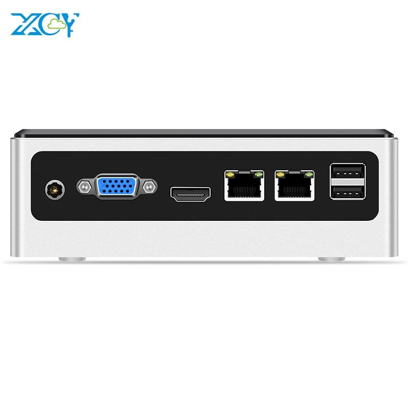 XCY Mini PC Intel Core I5 4200U Windows 10 2*Gigabit Ethernet 2*RS232 HDMI VGA 4*USB Type-C WiFi Industrial ITX Computer Linux