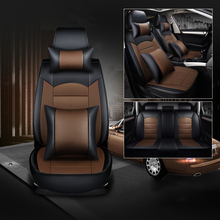 WLMWL Universal Leather Car seat cover for BMW all models f30 f10 e46 x5 e70 x1 x3 e39 x4 f11 car styling auto Cushion