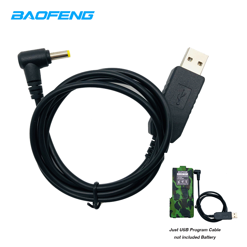 Original BaofengUV-5R USB Charger Charging Cable For Walkie Talkie UV-5RE UV 5R UV5R BL-5L 3800 MAh Li-on Battery Two Way Radio