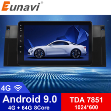 Eunavi 1 Din Android 9.0 HD 1024*600 Car Radio Stereo Car GPS Navigation 9 inch For BMW E53 E39 X5 with WiFi 3G Audio Player