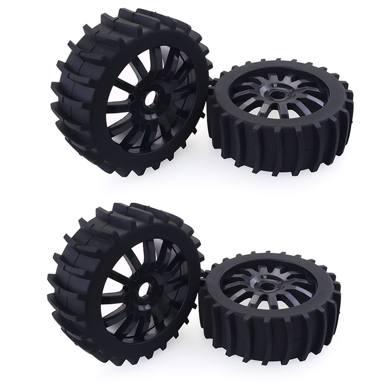LAFEINA RC 1//8 Scale RC Off Road Buggy Snow Sand Paddle Tires Tyre and Wheels 4 PCS