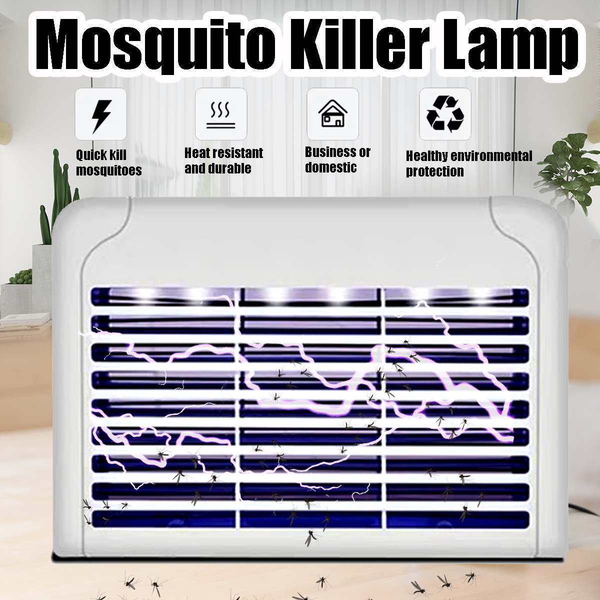 LED Electric Socket Mosquito Killer Lamps Mosquito Fly Killer Zapper Bug Insect Physical Trap Night Light Indoor Outdoor