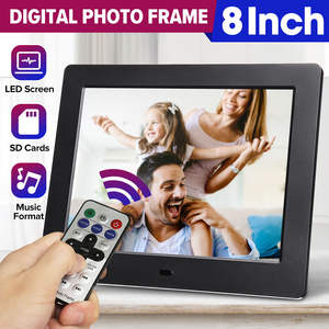 Digital-Photo-Frame Picture Electronic-Album Led-Backlight Friends 8inch-Screen Music