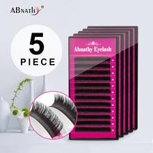 Abnathy 5Case super soft all size 5pc/lot J B C D Curl mink eyelashes extension individuals extensions wimper