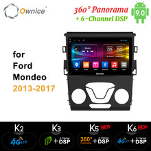 Ownice Octa Core Android 9.0 360 Panorama Dsp 4G LTE SPDIF Mobil 2Din Radio GPS DVD Pemain K3 K5 k6 untuk Ford Mondeo 2013-2017(China)