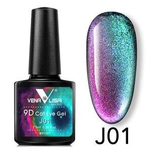 New Nail Art Design Manicure Venalisa 7.5Ml Soak Off Enamel 9d cat eyes magnetic Gel Polish UV Gel Nail Polish Lacquer Varnish(China)