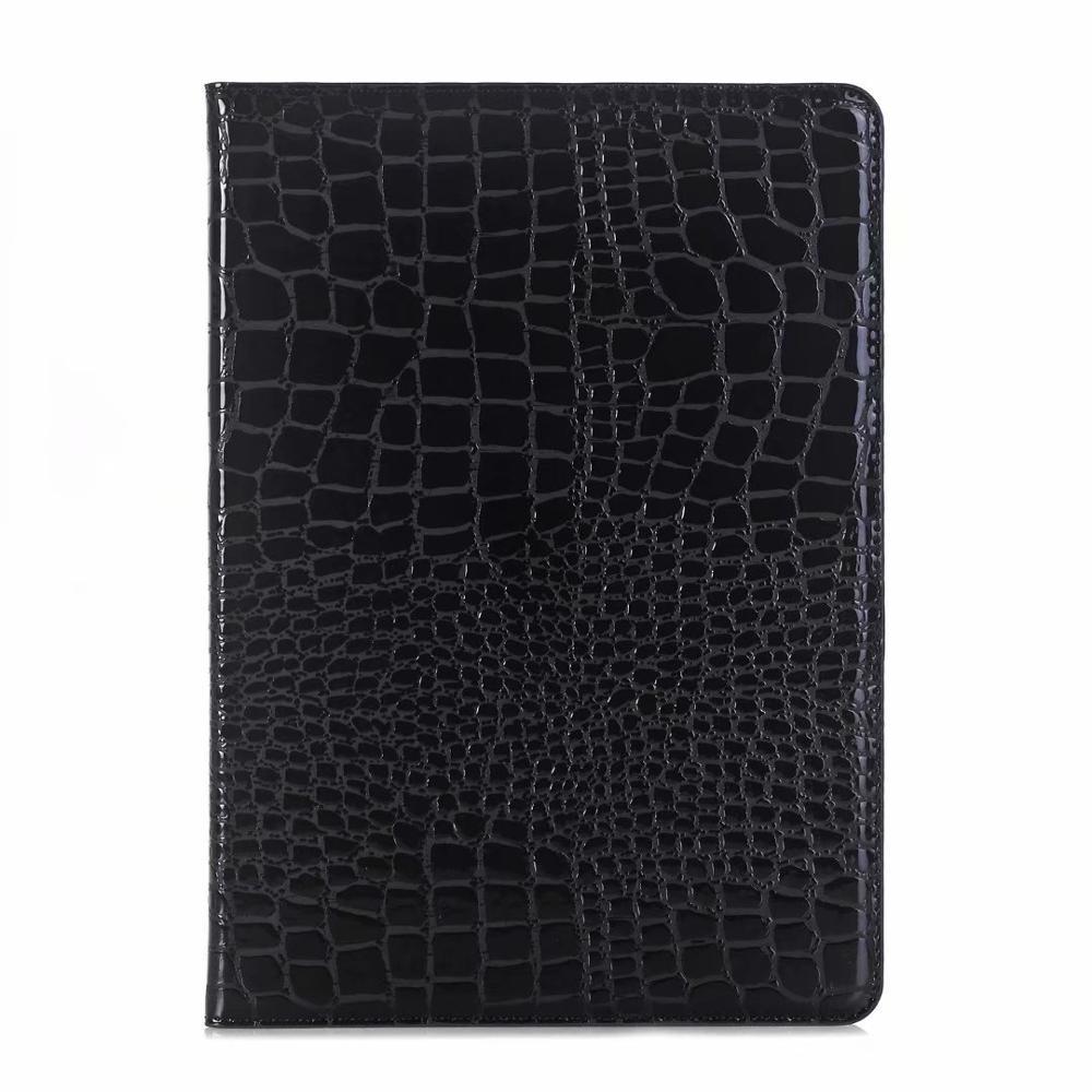 Black Yellow Luxury Folio Coque for iPad 7th 10 2 Case Crocodile Map PU Card Slot Stand A2198