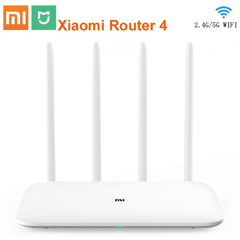 Original Xiaomi Router 4 Wifi Repeater 2.4G 5GHz 1167Mbps Fiber-optic Full Gigabit Smart Router 128MB MiNet Fast Mi APP Connect image