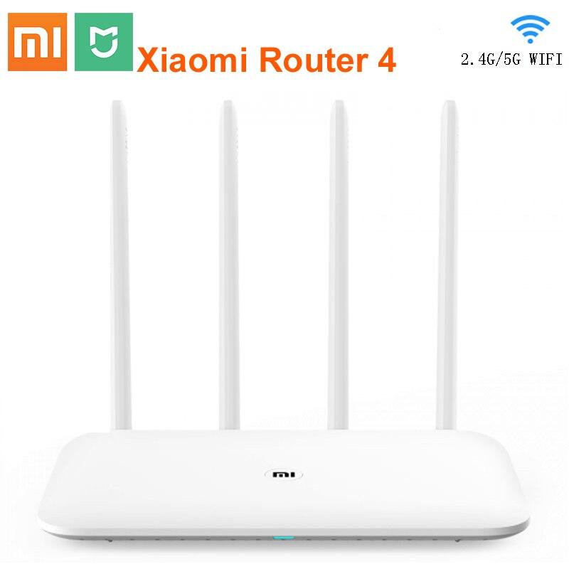 Routeur d'origine Xiao mi 4 répéteur Wifi 2.4G 5GHz 1167Mbps routeur intelligent Gigabit à Fiber optique 128 mo mi Net connexion rapide