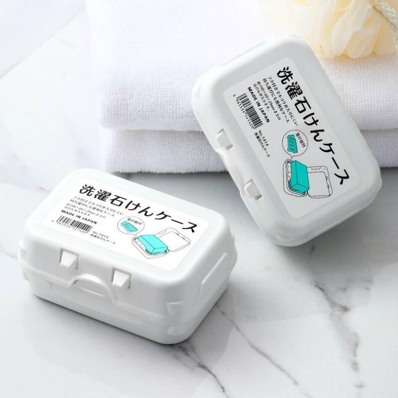 Japan Import Classic Bathroom Dish Plate Case Home Shower Travel Hiking Holder Container Soap Box Zeepbakje Porte Savon Jabonera