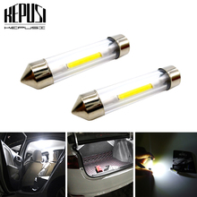2x C10W C5W LED COB Festoon 31mm 36mm 39mm 41mm 12V White bulbs for car License plate Interior Reading Light Auto Lights
