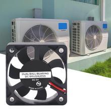 Ventilateur de refroidissement industriel sans balais pour électrocar, 5V/12V/24V cc, haute vitesse, roulement à billes en plastique, 5010