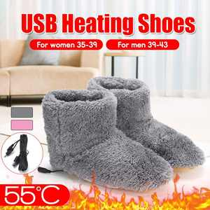 Boot Heated-Shoes Foot-Warming-Shoes Thermal-Warmer Electric Comfortable Plush Winter