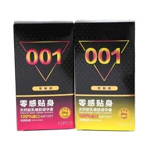 Produtos de sex shop preservativos 12 pçs ultra fino 001 preservativos finos para homem látex natural novidade adulto produtos de sexo dropshipping