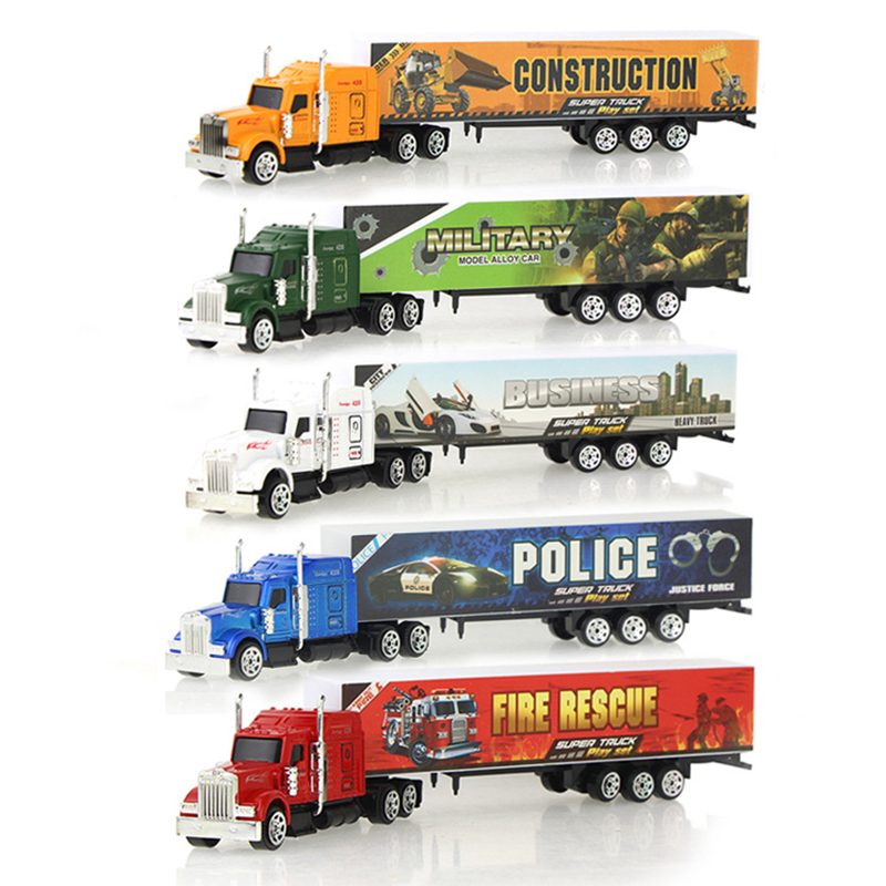 Simulation Container Alloy Car Truck Diecast Model Toys Vehicle 5 Colors Collection Educational Toy For Boy Kids Gift