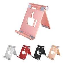 цена на Desktop Phone Tablet Stand for Apple iPad iPhone Samsung Huawei Xiaomi Aluminum Alloy Angle Adjustment Foldable Phone Holder