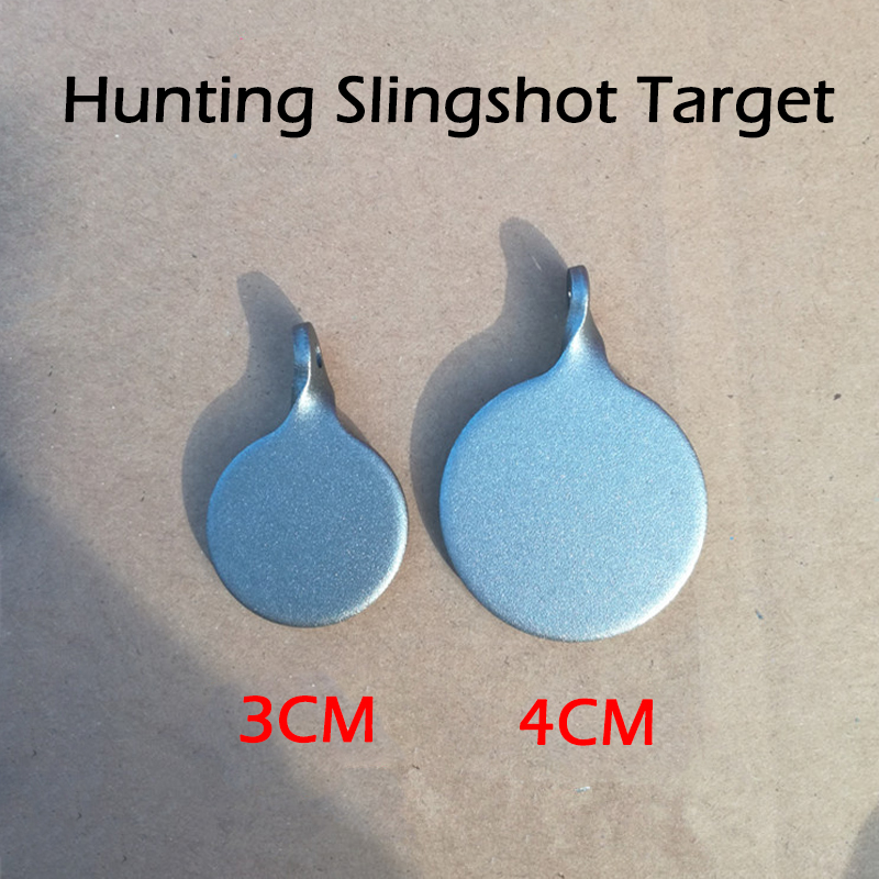 3Psc/Lot Airsoft Hunting Wargame Stainless Steel Target Bullseye 3-4cm For Shooting Slingshot Catapult Aim CS Force Dia Security