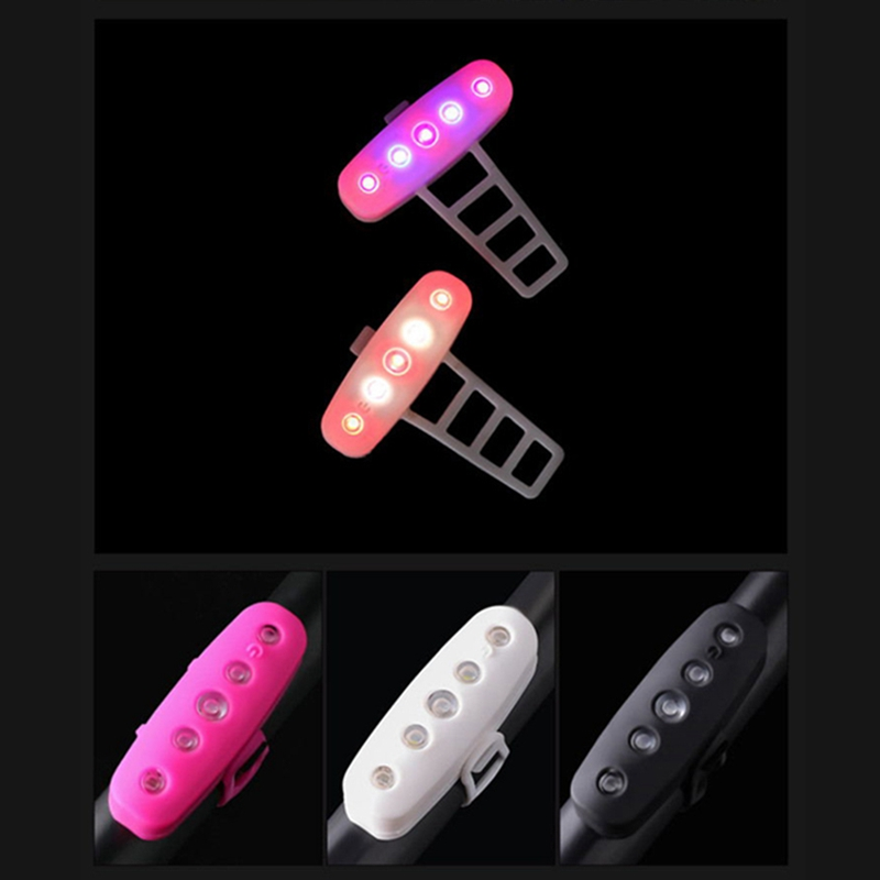 New Useful Bicycle Rear Light Waterproof USB Charging Silicone Bicycle Light LED Cycling Bike Lights Lamp