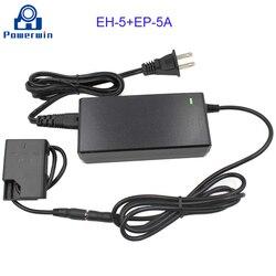 Powwerwin eh-5/EH-5A + EP-5A adaptador de câmera ep5a dslr carregador falso manequim acoplador de bateria para nikon p7800 p7700 p7100 p7000 d5600